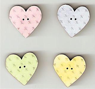 Pastel heart-star