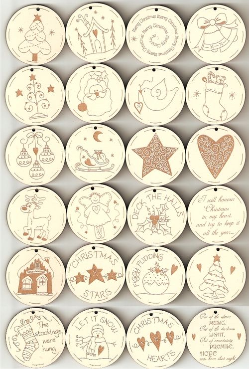 Advent tags x 24